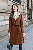 HIDRRU Womens Wool cet enfant-Manteau en laine à l'hiver 2017 chaud à manches longues en polaire double-face est la fille de la série L à fil d'Or Suisse