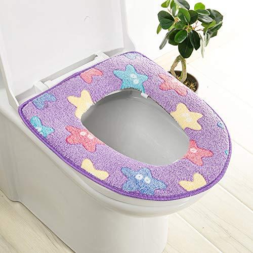 Trap-o-ring (BAOZIV587 2er-Pack WC-Sitzkissen Haushalt Toilettendeckel Aufkleber Wc Trap Waterproof Universal Wc Sitzmatte Summer, Purple Starfish Glue)