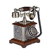 Power uk Teléfono antiguo rotatorio del teléfono europeo Teléfono retro mecánico del campanario Teléfono fijo fijo antiguo