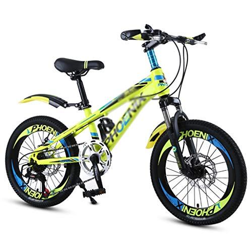 Kinderfahrräder Fahrräder Schulkinder Fahrrad 18 Zoll 20 Zoll Junge und Mädchen Outdoor Fahrrad Bergsteigen Mountainbike Variable Geschwindigkeit Fahrrad Geeignet für Studenten