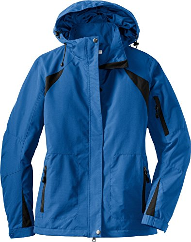 Port Authority Ladies Waterproof All Season II Jacket with Microfleece Lining L304,Small,Snorkel Blue / Black Colorblock Nylon Jacket