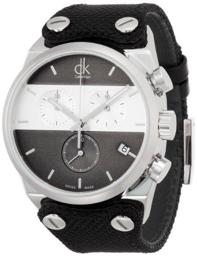 Calvin Klein Orologio Cronografo Quarzo Uomo con Cinturino in Tessuto K4B381B3