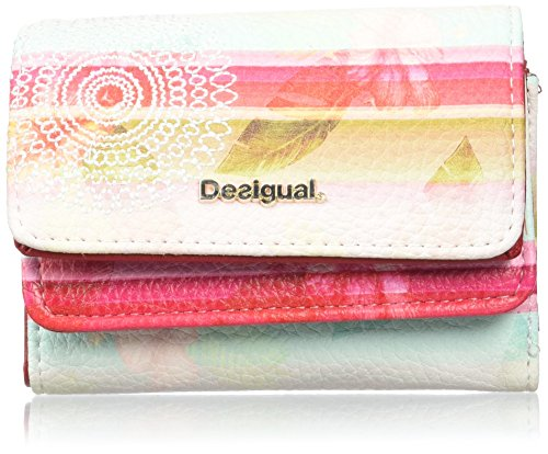 Desigual MONE_MIX Polynesia, Billetera para Mujer, Rojo (3000), 4x9x12 cm (B x...