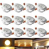 HENGDA 12 x 3W LED Set 230V Spot