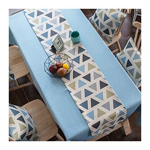 Junyzzq runner da tavola moderno e minimalista tessuto in cotone e lino piccolo tavolo da tavola nordico fresco tovaglia tovaglia rettangolare tavolo bandiera 30x180c