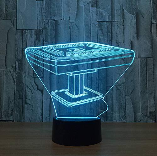 Mahjong Schreibtisch 3D Nachtlicht Usb Led 7 Farben Ändern 3D Lampe Touch Schalter Dekorative Nachttischlampe Spielzeug