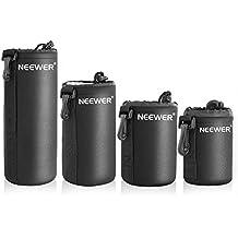 Neewer 4 tamaño cámara réflex digital con cordón ajustable lente bolsa dimensiones de la funda de S M L y XL para Sony, Canon, Nikon, Pentax, Olympus, Panasonic lente