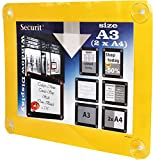 Securit - Marco expositor para ventana (tamaño A3), color amarillo
