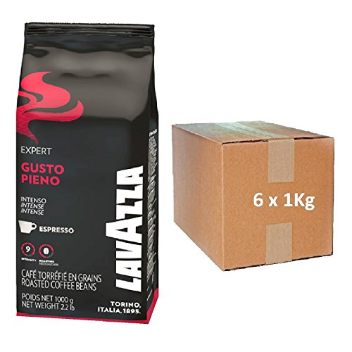 LAVAZZA Espresso Vending - GUSTO PIENO ( 6 x 1000 g ) ganze Bohne - Plantagen Dunkle Schokolade