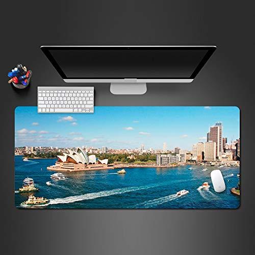 Schönes Sydney-Theater-Mausunterlage-Persönlichkeit Pc Spiel-Computer Xl Mauspad Wot Mousepad Beste Geschenke 800X400X3Mm -