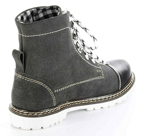 Bergheimer Trachtenschuhe Stiefel schwarz Leder Herren Damen Boots Schuhe Aflenz Schwarz