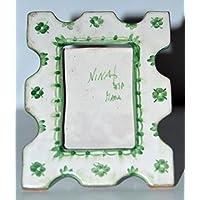 Portafoto - Linea Classica Verde - Pezzo Unico – Handmade- Le Ceramiche del Castello - 100% Made in Italy
