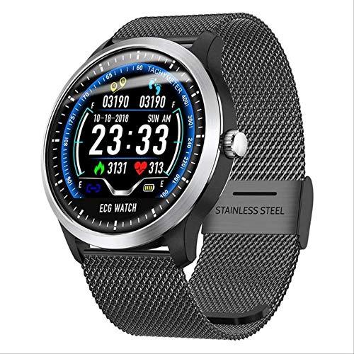 IRFKFTIntelligente UhrN58 Smart Watch EKG Sportuhr EKG + PPG EKG HRV-Bericht Herzfrequenz-Blutdruck-Test IP67 Wasserdichtes Smart-Armband SmartwatchSchwarz