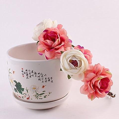 Aukmla Bandeaux pour femme Beauté Bohême Mariage Cheveux Couronne de fleurs Oreillette Couronne Diadème Bord de mer Plage