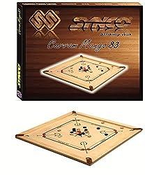SYN6 Mango 83 Carrom Board (Full Set : Coins + Striker)