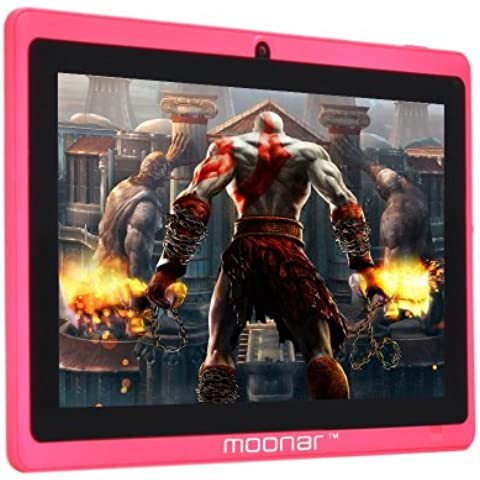 Moonar 7'' Tablet PC Allwinner A13 1.2-1.5GHZ de 5 puntos de la pantalla capacitiva Android 4.0 512 MB ​​4 GB frontal orientada Webcam Wi-Fi Tablet PC plana del ordenador (rosa)