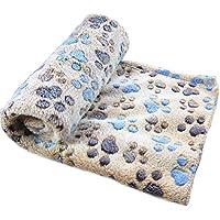 Ularma Pata pequeña impresión paño grueso y suave manta suave estera del animal doméstico (60 X 40 CM, café)
