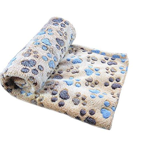 Foto de Ularma Pata pequeña impresión paño grueso y suave manta suave estera del animal doméstico (60 X 40 CM, café)