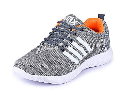 TRASE SRV Relax Grey-Orange Running Shoes for Men-9 IND/UK