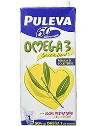 Puleva Leche con Omega 3 - Pack de 6 x 1 l - Total: 6