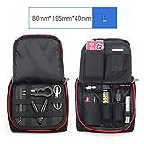 Vape Bag Multifunction Electronic Cigarette Vape Travel Carrying Bag Mini Vape Carrying Bag for Tools/Liquids/RDA RTA/Mods/Batteries/Cotton/Vape Kits/Vape Pens (Large)