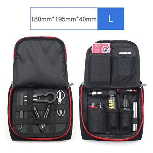 Vape Tasche Multifunktions Elektronische Zigarette Vape Reise Tragetasche Mini Vape Tragetasche für Werkzeuge/Flüssigkeiten/RDA RTA/Mods/Batterien/Cotton/Vape Kits/Vape Stifte(Large) (Elektronische Zigarette Tragetasche)