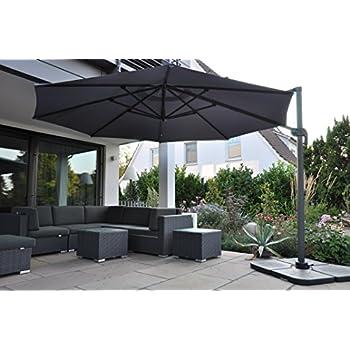 zangenberg ampelschirm sonnenschirm monaco 350 cm grau. Black Bedroom Furniture Sets. Home Design Ideas