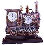 Axiba Kaminuhren Antike Lokomotive dekoriert Tischuhr 26 * 10 * 27 cm-Hausdekorationen