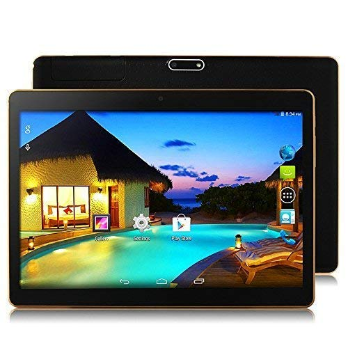 Android 8.1 tablet 10 inch 1920 x 1200 Full HD IPS touchscreen, dual camera 3MP en 8MP, 4GB RAM 64GB geheugen, Octa Core CPU, WiFi/WLAN/Bluetooth/GPS TYD-107 (Schwarz)