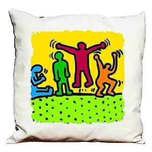 Copripiumino Keith Haring.Cuscino Keith Haring Amazon It Casa E Cucina