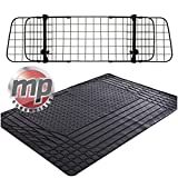 MP Essentials Heavy Duty Waterproof Rubber Car Boot Liner Mat & Mesh Grill Dog Barrier Guard