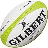 Gilbert Match XV Ballon de Rugby, Blanc, 5