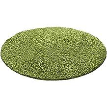 runder teppich lindgrün