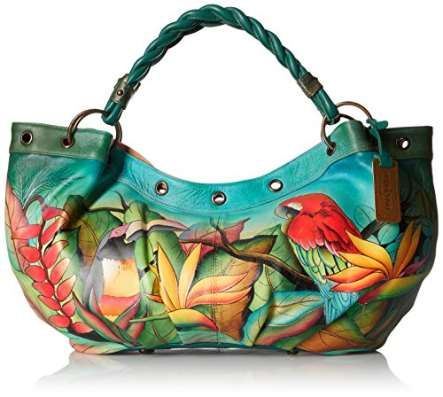 Anuschka-Handpainted-Leather-Braided-Handle-Large-Ruched-Hobo-Tropical-Bliss