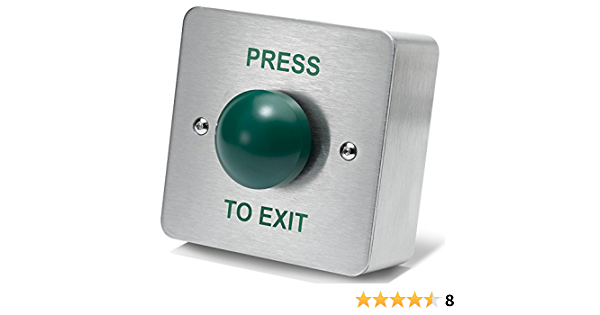 Details about  /Securitron PB Access Control Momentary Exit Push Button w// Green Red NEW