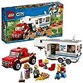 LEGO City 60182 - Starke Fahrzeuge Pickup und Wohnwagen, Spielzeug für Jungen und Mädchen