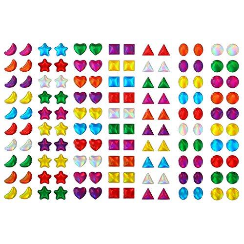 420 Paare Stick auf Ohrringe 3D Aufkleber Edelsteine Selbstklebende Aufkleber