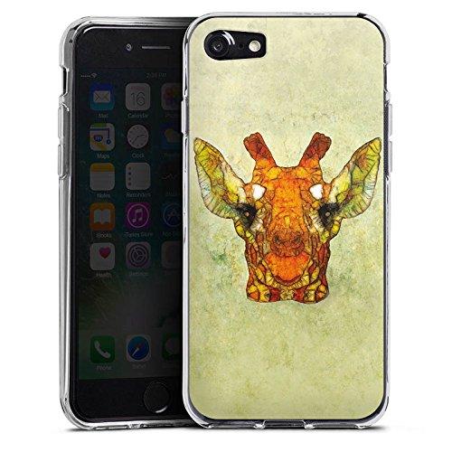 Apple iPhone X Silikon Hülle Case Schutzhülle Giraffe Muster Wasserfarbe Silikon Case transparent