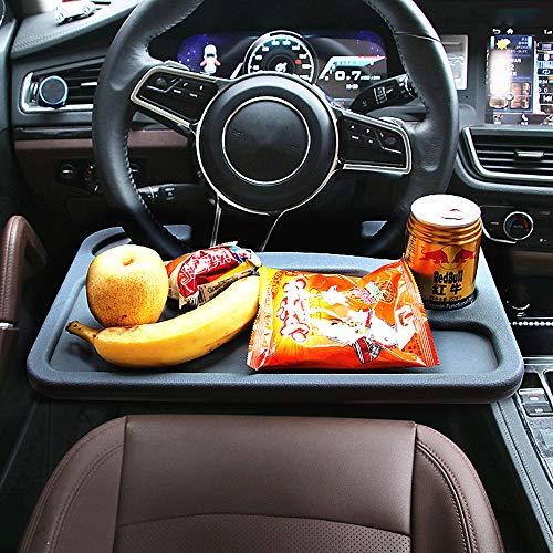 Tragbaren Laptop-schreibtisch (JeVenis Auto-Lenkradablage für Laptop und Auto/Tablet und Lebensmittel-Lenkrad, multifunktional, tragbar, für das Auto, für Getränke, Lebensmittel, Laptop, Schreibtisch)