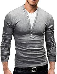 MERISH Polo Coton pour Homme 2 en 1 Chemise chic et Casual Top Qualite manches longues Slim Fit Modell 34