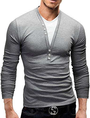 merish-maglietta-da-uomo-con-bottoni-decorativi-casual-chic-longsleeve-5-vari-colori-design-2-in-1-s