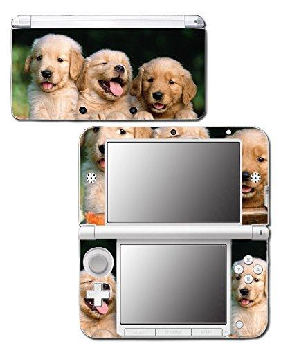 Cute Golden Labrador Retriever Puppy Pals Dog Friends Video Game Vinyl Decal Skin Sticker Cover for Original Nintendo 3DS XL System by Vinyl Skin Designs -
