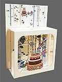 Pop Up 3 Ebenen 3D Laser Karte Geburtstag Hand gesteckt Kerzen Torte 17x13cm