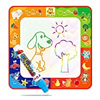 GEESENSS Children Early Education Baby Cartoon Water Painting Cloth Graffiti Blanket Learning & Activity Toys