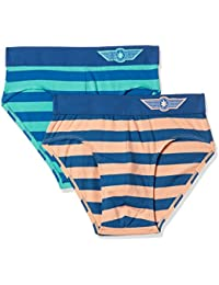 Force NXT Men's Striped Brief (Pack of 2)