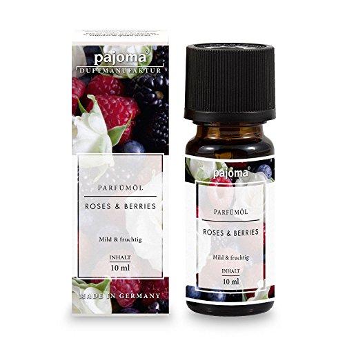 pajoma Parfümöl ''Roses & Berries'', 10 ml, feinste Parfümöle in Geschenkverpackung (Rosen-aroma)