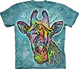 The Mountain Jungen Russo Giraffe Kids Tee T-Shirt, blaugrün, Large
