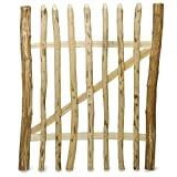 Weidenprofi Staketentor, Gartentüre aus Haselnussholz (BxH) 100 x 120 cm