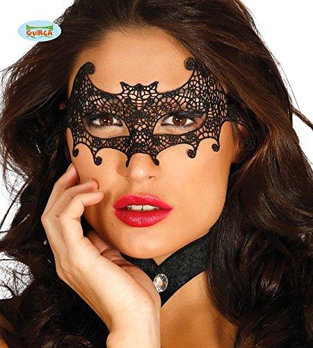 Fiestas Guirca GUI12903 - Gesichtsmaske mit Fledermäusen bestickt