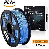 SUNLU 3D Printer Filament PLA Plus Blue(more like sky),PLA Plus Filament 1.75 mm, Low Odor Dimensional Accuracy +/- 0.02 mm 3D Printing Filament,2.2 LBS (1KG) Spool 3D Printer Filament for 3D Printers & 3D Pens,Blue(more like sky)
